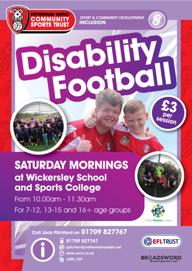 Disability Football Flyer