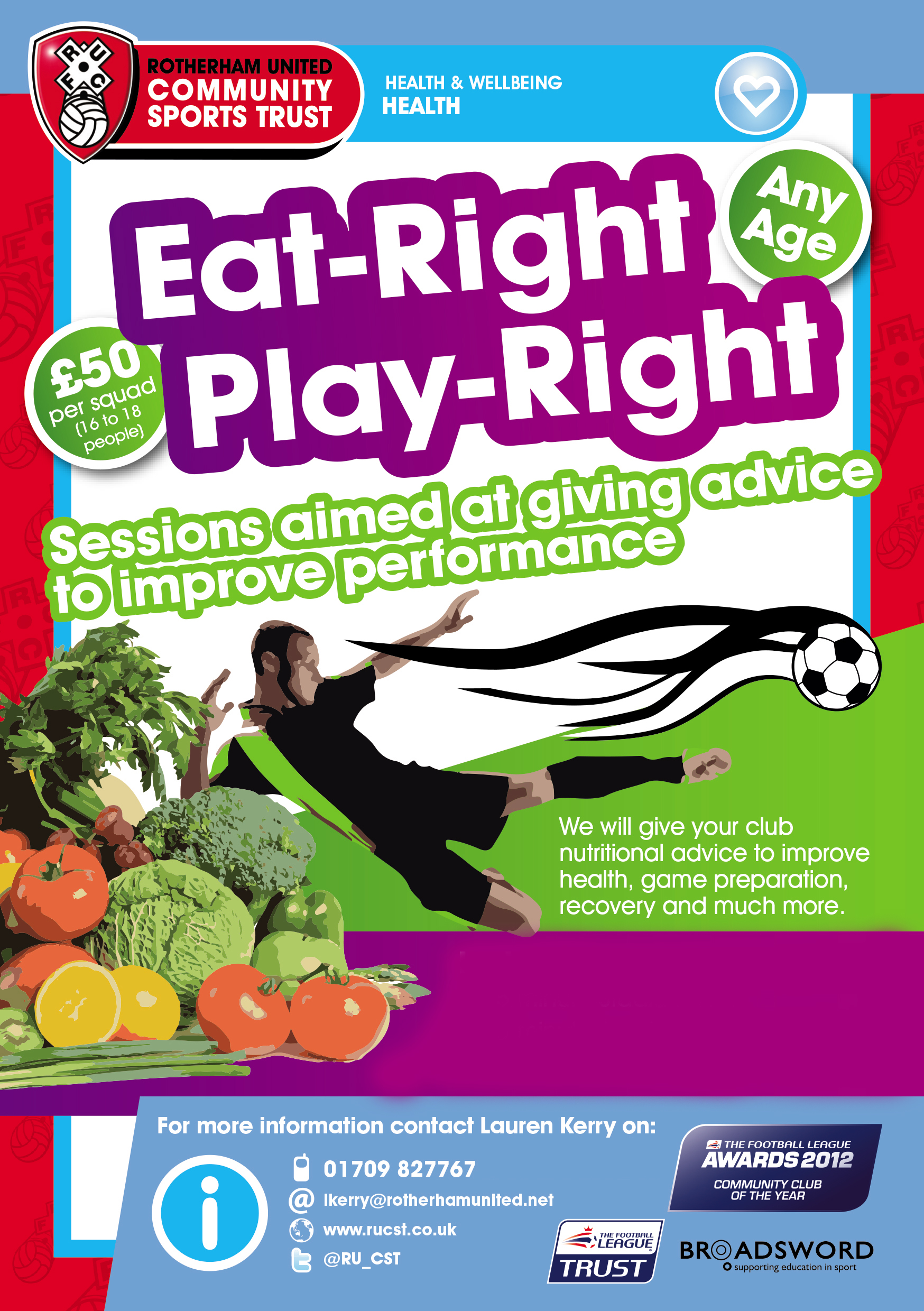 73535 Eat Right Play Right Flyer - new