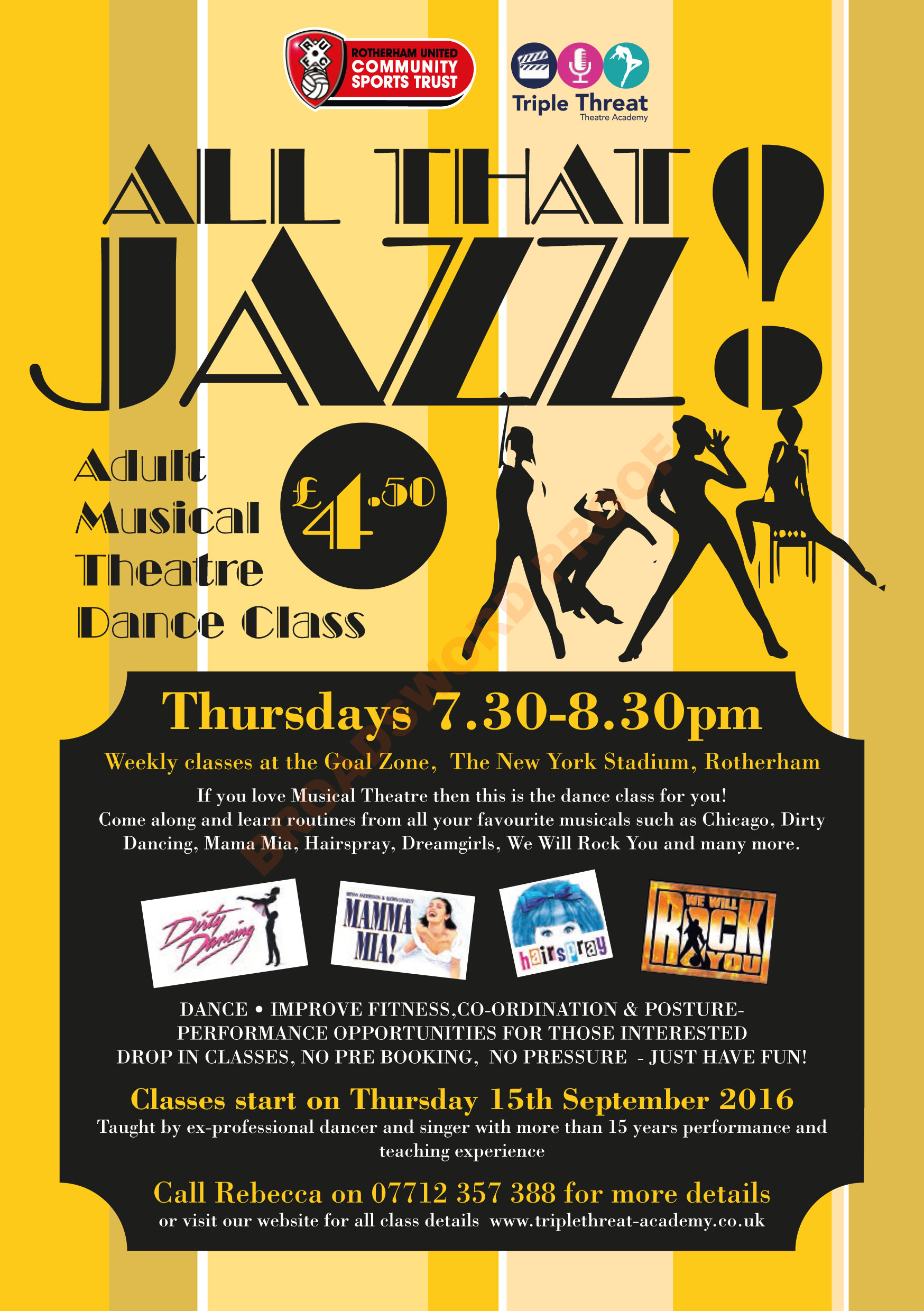 75702 Jazz Dance Flyer